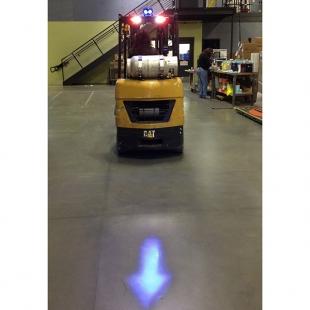80v Led Blue Arrow Material Handling Safety Light